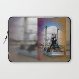 Moored boat on a river Laptop Sleeve