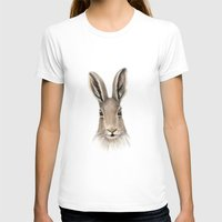 hare T-shirts featuring Hare by natlovesrooby