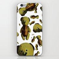 teddy bear iPhone & iPod Skins featuring Teddy-bear by Кaterina Кalinich