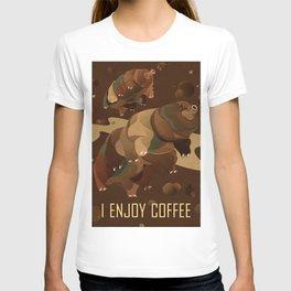 Tardigrade Enjoys Coffee T-shirt
