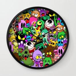 Monsters Doodles Characters Saga Wall Clock