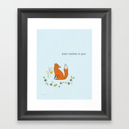 Best wishes to you Framed Art Print