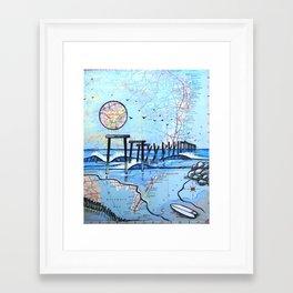59th Street Pier, Ocean City, NJ Framed Art Print