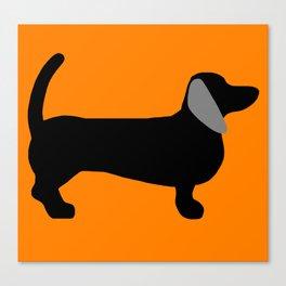 Halloweiner Dog Canvas Print