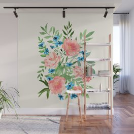 Watercolor Peonies Wall Mural