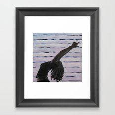 Yoga Booty Framed Art Print