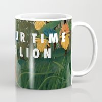 vampire weekend Mugs featuring Weekend of the Lion by Modern Vampires of Art History