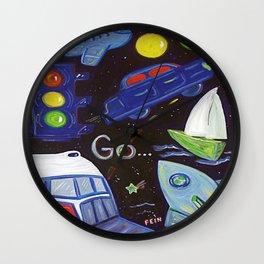 Go by Sheila Fein Fantasy Pop Wall Clock
