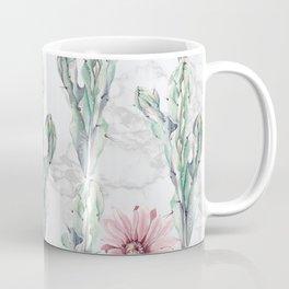 Cactus Rose Marble Coffee Mug