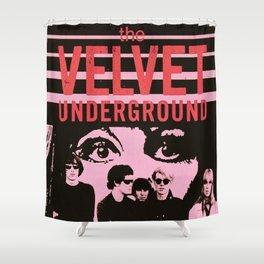 1968 Velvet Underground Concert Gig Vintage Advertising Poster Shower Curtain