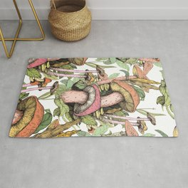 mushrooms everywhere Rug