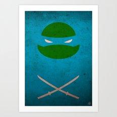 TMNT Leo poster Art Print