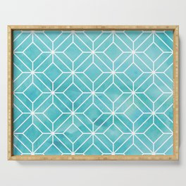 Geometric Crystals: Sea Glass Serving Tray