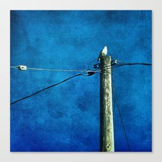 'BIRD ON A WIRE' Canvas Print
