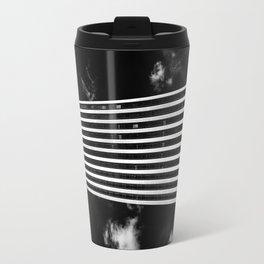 Silver Stripes Travel Mug