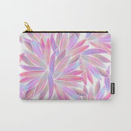 Trendy girly pink lavender coral watercolor floral Carry-All Pouch