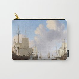 Vintage Ship Oil Painting Carry-All Pouch