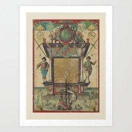 Mariner's Ketubah Art Print