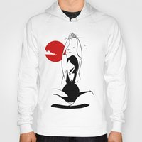 yoga Hoodies featuring Yoga by rbengtsson