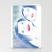 lipstick Stationery Cards featuring Lipstick by Linda Roy Art