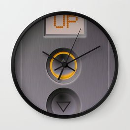 Elevator Going Up Wall Clock