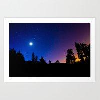 Moon and Venus at Dawn Art Print