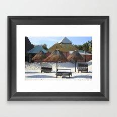 Carribean sea 16 Framed Art Print