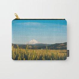 Golden Grain Fields Overlooking Cascade Mountains Carry-All Pouch