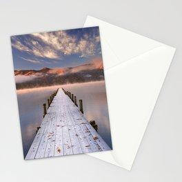 II - Jetty in Lake Chuzenji, Japan at sunrise in autumn Stationery Cards
