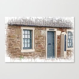 Barometer Cottage Canvas Print