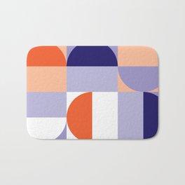 Minimal Bauhaus Semi Circle Geometric Pattern 1 - #bauhaus #minimalist Bath Mat