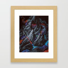 Its a majestic fall into a journey of darkness Framed Art Print