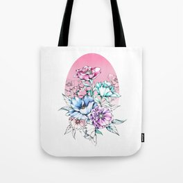 Poppy Bouquet Tote Bag