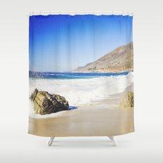 Rocks on Beach, Big Sur, California Shower Curtain