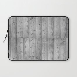 Wood Planks in black and white Laptop Sleeve
