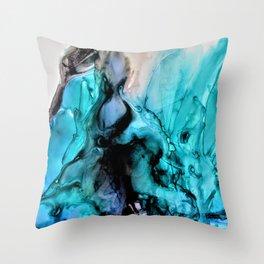 Turquoise Smolder Throw Pillow