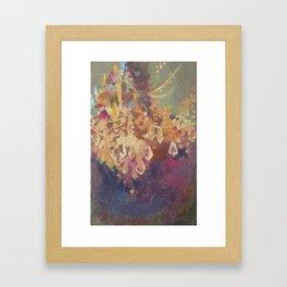 Crystal Cascade Chandelier Framed Art Print