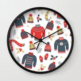 Winter pattern Wall Clock