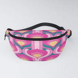Deco Pink Peacock tail Fanny Pack