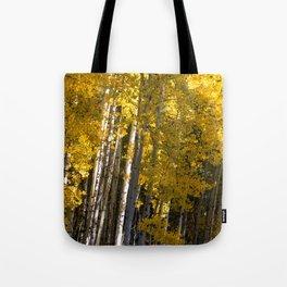 Golden Aspens Tote Bag