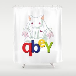 Kyubey Shower Curtain