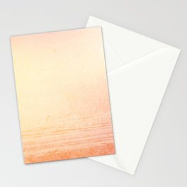 Modern abstract orange summer ombre pattern Stationery Cards