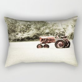 Vintage Red Tractor Rectangular Pillow