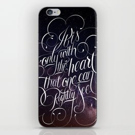 Only with the heart iPhone Skin