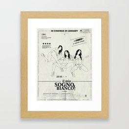 Il Mio Sogno Bianco - Staring Jennifer White Framed Art Print