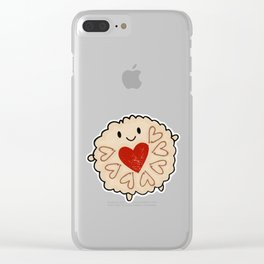 Jammie Dodger Watercolour Clear iPhone Case