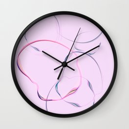 Thinking bubbles no.1 Wall Clock