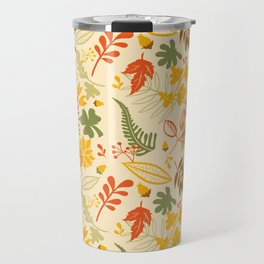 Fall orange forest green pastel country chic floral Travel Mug