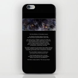 TWO WOLVES CHEROKEE  Native American Tale iPhone Skin