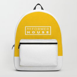 Reformer House White on Yellow Backpack